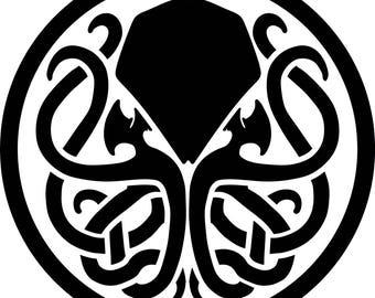 Cthulhu Mythos symbol vinyl sticker decal - car caravan laptop 10cm x 10cm