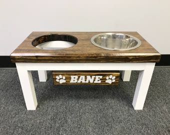 Large Raised Elevated Farmhouse Style Dog Feeder