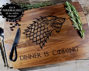 Game of Thrones Cutting Board, GOT cutting board, House Stark, Westeros, Game of thrones gift, GOT fan, Gift for him, Gift for her,