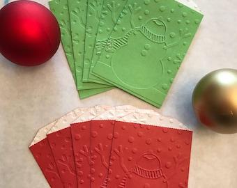 Snowman money gift card holder