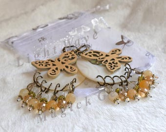 Earth Mother Butterfly Earrings - FREE Ship USA