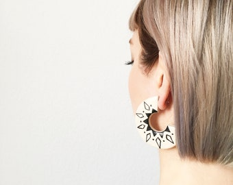 INKA earrings / statement, geometric, tassel, ornament, bohemian