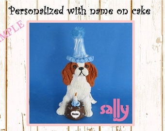 Black and Tan Cavalier King Charles Spaniel BIRTHDAY dog OOAK
