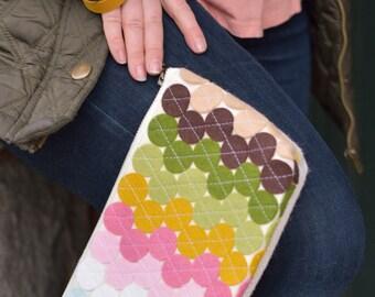 Felt Pouch Quilted Pouch Large Pencil Case Makeup Storage Colorful Zipper Bag Wool Bag Burlap Bag Wristlet Purse Wallet Women
