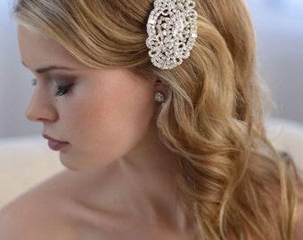 Rhinestone Wedding Comb, Crystal Bridal Comb, Bridal Hair Comb, Wedding Accessory, Vintage Comb, Bride Hair Comb, Wedding Hair Comb ~TC-2252