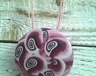 Pendant Bordeaux pink  Polymer clay pendant  Polymer clay jewelry Unique handmade jewelry Pink pendant Necklace Pendant