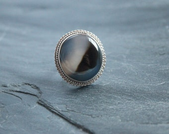 Onyx ring set in Sterling silver