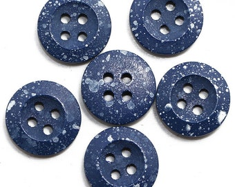 """10 Blue Water Dropped  1/2"""" Buttons 2 Hole Buttons For  Sweaters, Knitting, Sewing, Button Crafts, Scrapbooking"""