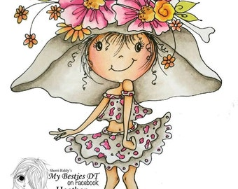 INSTANT DOWNLOAD My Besties img983 Bestie Sherri Baldy digi stamp
