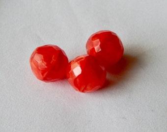 Faceted Czech Glass Bead