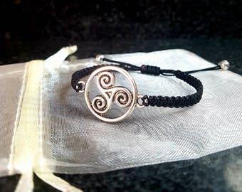 Celtic, spiral charm bracelet