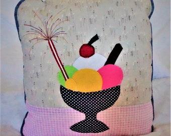 Hand-made Ice-cream Sundae Cushion
