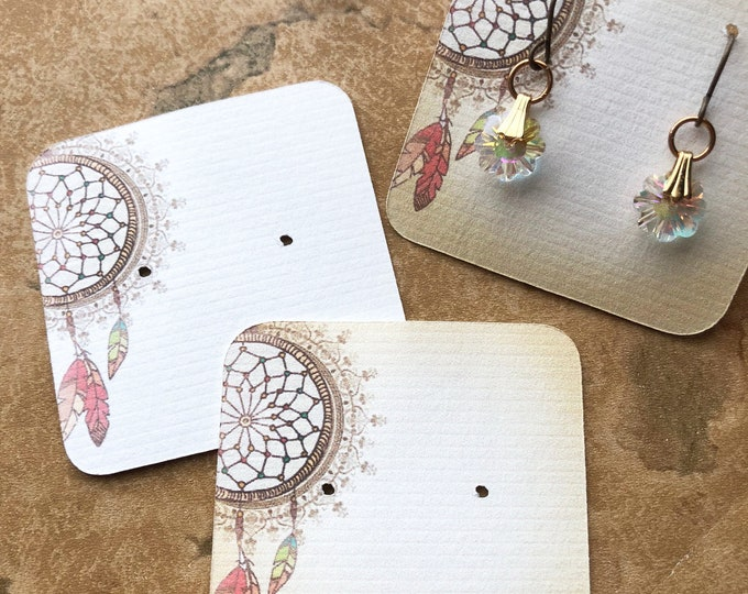 60•DREAM CATCHER•Necklace Card•Earring Cards•Jewelry Cards•Display Card•Display•Earring Holder•Necklace Holder•2x2 or 3x3