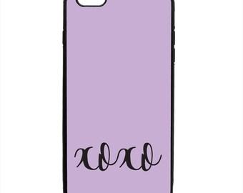 XOXO Love Kiss Print Pattern Phone Case Samsung Galaxy S5 S6 S7 S8 S9 Note Edge iPhone 4 4S 5 5S 5C 6 6S 7 7S 8 8S X SE Plus