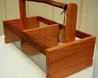 Storage Bin Basket,Farmhouse Storage Basket, Handcrafted Wire/Wood Basket / Handcrafted Basket, Farmhouse Basket,Large Bin