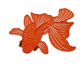Goldfish Embroidered Applique Iron on Patch