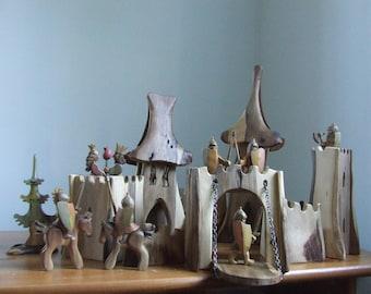 Wooden Knight's Castle Set