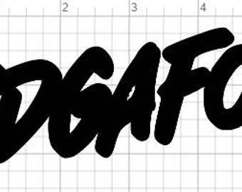 IDGAFOS Vinyl Sticker