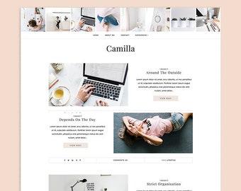 Camilla   Responsive Premade Blogger Template