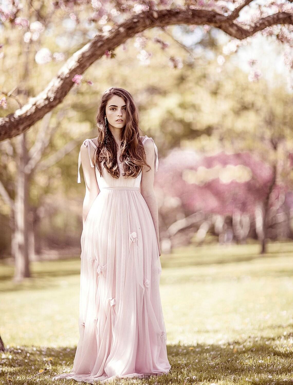 Erröten Hochzeitskleid Prom Kleid Frühlingshochzeit rosa