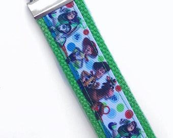 """5"""" Key Fob - Keychain - Green - Woody - Buzz Lightyear - Jessie - Gift"""