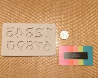 Mini Elegant Filigree number mold