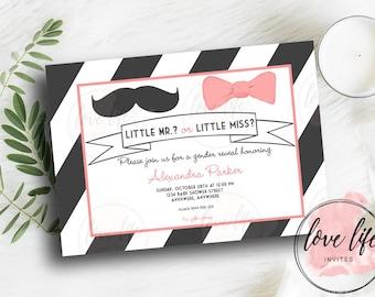 Little Lady or Little Man Gender Reveal Invitation | Gender Reveal Invitation | Baby Shower Invitation | Gender Reveal Invite
