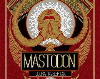 MASTODON 18 x 24 Five color Screenprint poster