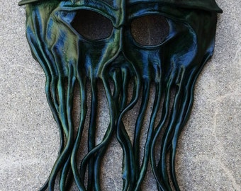 Leather Cthulhu or Pirates of Caribbean Davy Jones Mask