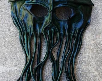 Cuir Cthulhu ou Pirates des Caraïbes Davy Jones masque