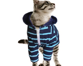 Hoodie for Cat Clothes for Cat Stretch Made of Spandex Cotton Cat Jacket Cat Clothing Cat Outfit in Multiple Sizes ( L, M, S) or Custom Orde