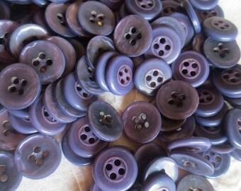 """Lavender Pearlized Buttons Dusty Purple 5/8"""" Plastic 4 Hole Bulk Lot 50 Pieces"""