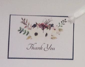 9 Fall Flower Thank You Tags