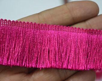 2 Yard Brush Fringe Trim Tape, fringe trim, Gypsy Bohemian Boho fringe trim, trim with fringe ethnic trim, fringed ribbon retro fringed trim