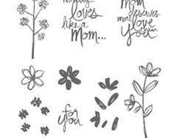 Stampin UP Mothers Love PhotoPolymer Stamp  Set