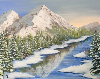 Decorative Painting Pattern Packet - Winter Solitude Canvas Painting