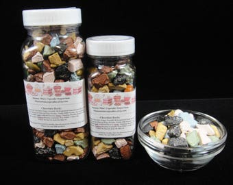 Chocolate Rocks, Cucpake Sprinkles, Cake Decorations, Dinosuar Party, Construction Party, Candy Buffet, Weddings, Party Favors, Kids Parties