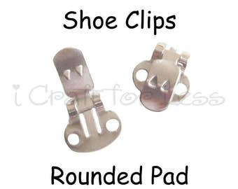 Shoe Clips Blanks - 10 (5 pairs) with Rounded Pad - SEE COUPON