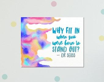 Dr Seuss Wall Art, Dr Seuss Quote Art, Inspirational Canvas Art, Wall Art Quotes Canvas, Dr Seuss Canvas Art, Quote Art Print On Canvas