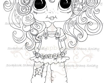 INSTANT DOWNLOAD Digital Digi Stamps Big Eye Big Head Dolls Digi  My Besties IMG726 By Sherri Baldy