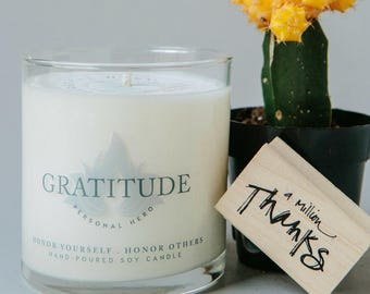 Thank You Gifts For Women, Thank You Gift For Coworkers, Hostess Thank You Gift For Her, Employee Gift, Mentor Thank You, Gratitude Candle