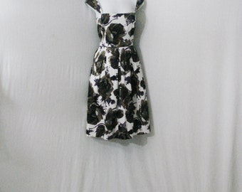Floral Party Dress Maggy London Cotton Chic mid Calf Dress ML