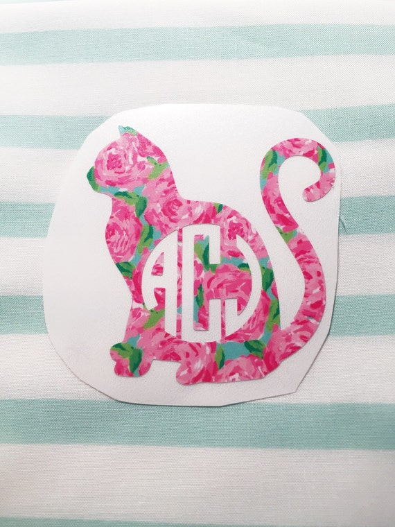 Southern Kitty - Lilly Pulitzer Inspired Cat Decal