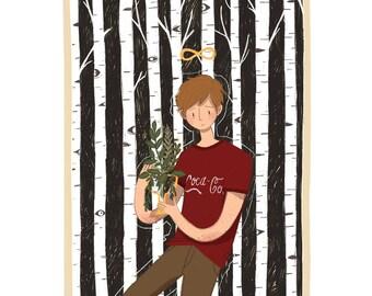 the magician — tarot art print