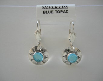 See-Thru Series- Silver and Stone Earrings ( Blue Topaz)