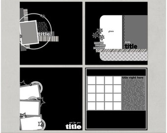 Sample Pack 7 - 12x12 Digital Scrapbooking Templates