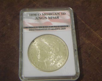 ANGS MS68 1898O Morgan Silver Dollar