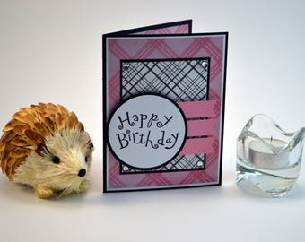 Happy Birthday Card, Birthday Greeting Card, 3D Birthday Card, Feminine Birthday Card, Handmade Birthday Card
