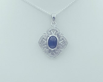 Sterling Silver Iolite Pendant