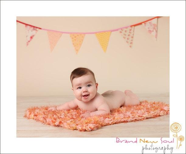 Baby Afghan Prop Baby Blanket Children Peach Baby Blanket